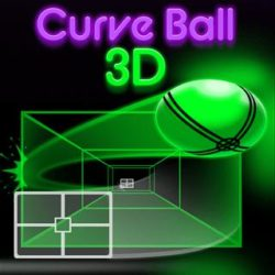 Curve the ball with your racket and try to defeat your opponent!
