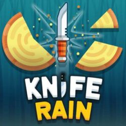 Precisely aim your knives at a rotating disk to destroy it without hitting your other knife. Knife rain game gets harder as you level up with disks rotating in different directions. Break the target without breaking your knife. Unlock cool and advanced new weapons and try to best and reach a high score!