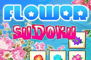 Flowers Sudoku Puzzle Mind game
